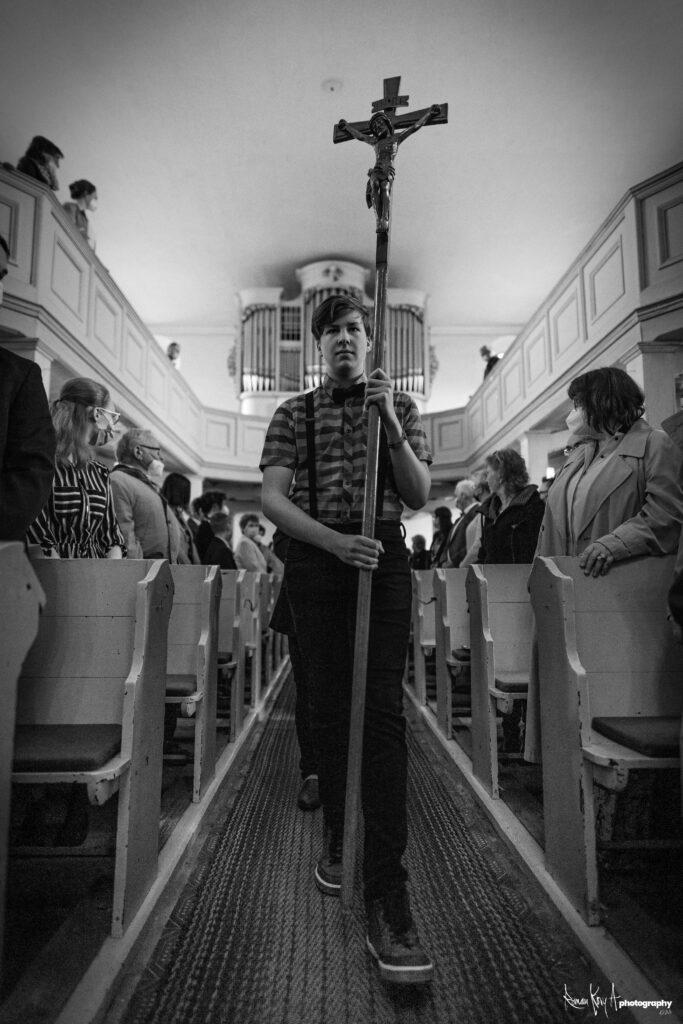 Konfirmation in der Evangelischen Kirche Milkel Mai 2021. Foto: Roman Koryzna / Roman Kory A Photography. © 2021.